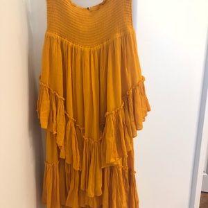 Free People Skirt/Dress, color Tangerine